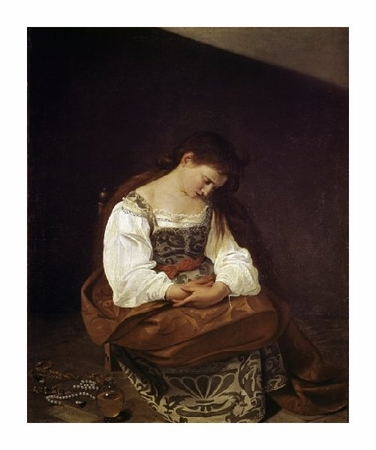 "Caravaggio Fine Art Open Edition Giclée:""The Repentant Magdalene"""