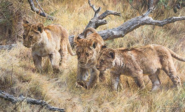 """Carl Brenders Hand Signed and Numbered Limited Edition Canvas Giclee:""""The Wanderers"""""""