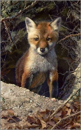 """Carl Brenders Hand Signed and Numbered Limited Edition Fine Art Print:""""Just Shy of Sly"""""""