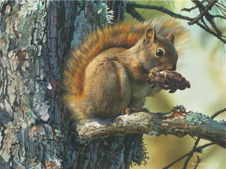 "Carl Brenders Limited Edition Print:""Picnic Perch"""