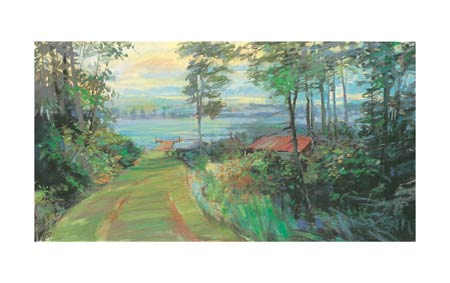 """Carol Rowan Signed and Numbered Limited Edition Giclée on Somerset Velvet Paper:""""Collins Lake I"""""""