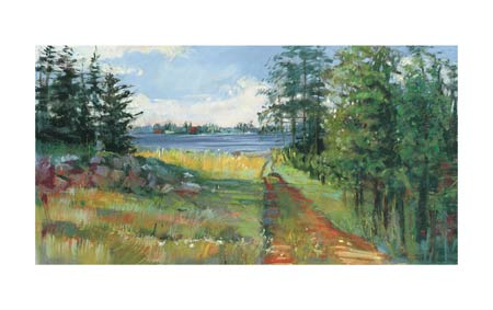 """Carol Rowan Signed and Numbered Limited Edition Giclée on Somerset Velvet Paper:""""Collins Lake II"""""""