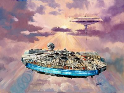 """Liné Tutwiler Star Wars Limited Edition Giclee:""""Imminent Danger"""""""