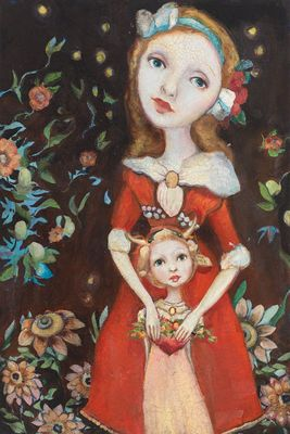 "Cassandra Barney Open Edition Canvas Giclee:""Mother's Love"""