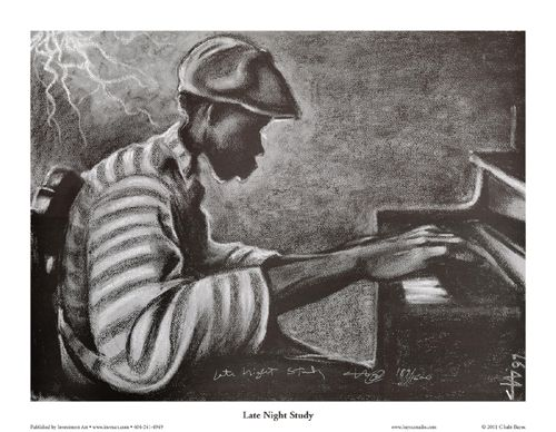 "Cbabi Bayoc Limited Edition Hand Titled & Signed Ed. 1500:""Late Night Study"""