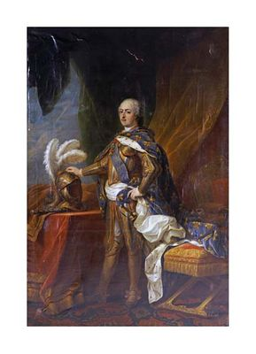 "Charles Andre Van Loo Fine Art Open Edition Giclée:""Portrait of King Louis XV of France and Navarre"""