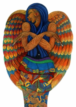 """Charles Bibbs Hand Signed and Numbered Limited Edition:""""The Earth Angel 2"""""""