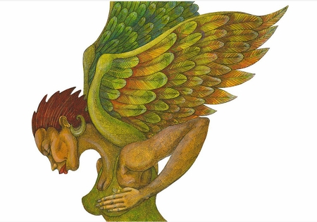 """Charles Bibbs Hand Signed and Numbered Limited Edition:""""The Green Angel"""""""