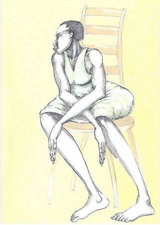 """Charles Bibbs Hand Signed and Numbered Limited edition Giclee Print:""""A Chair & A Lady"""""""