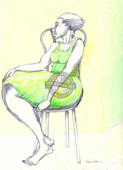 """Charles Bibbs Hand Signed and Numbered Limited Edition: """"A Lady & A Chair"""""""