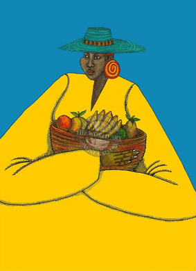"""Charles Bibbs Hand Signed and Numbered Limited Edition: """"Bajan Woman"""""""