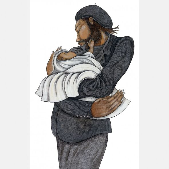 """Charles Bibbs Hand Signed and Numbered Limited Edition: """"Black Love"""""""