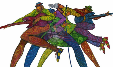 """Charles Bibbs Hand Signed and Numbered Limited Edition: """"Carnaval Blues"""""""