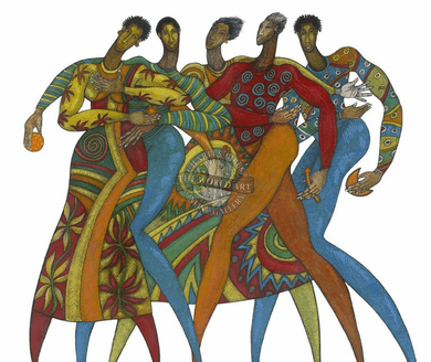 """Charles Bibbs Hand Signed and Numbered Limited Edition: """"Come Together"""""""