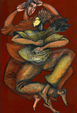 """Charles Bibbs Hand Signed and Numbered Limited Edition: """"Dance to the Harvest"""""""