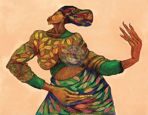 """Charles Bibbs Hand Signed and Numbered Limited Edition: """"Dancing Hands"""""""