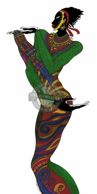 """Charles Bibbs Hand Signed and Numbered Limited Edition: """"Ebony Series 6"""""""