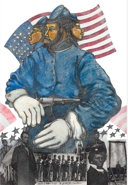 """Charles Bibbs Hand Signed and Numbered Limited Edition:""""Fight For Freedom"""""""