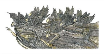 """Charles Bibbs Hand Signed and Numbered Limited Edition Giclee Print:""""Heavenly Hosts"""""""
