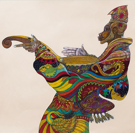 """Charles Bibbs Hand-signed and Numbered Limited Edition Giclee Print:""""Music Man"""""""