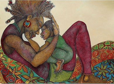 """Charles Bibbs Hand Signed and Numbered Limited Edition Giclee Print:""""Pillow Talk"""""""