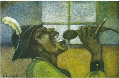 """Charles Bibbs Hand-signed and Numbered Limited Edition Giclee Print:""""The Singer"""""""