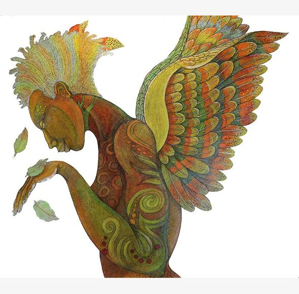 """Charles Bibbs Hand Signed and Numbered Limited Edition Giclee Print:""""Wings Of Life II """""""