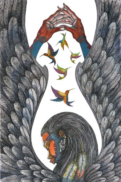 """Charles Bibbs Hand Signed and Numbered Limited Edition:""""Guardian Angel"""""""