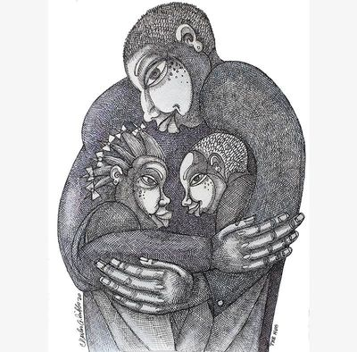 "Charles Bibbs Hand Signed and Numbered Limited Edition:""The Hug"""