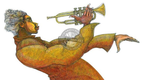 """Charles Bibbs Hand Signed and Numbered Limited Edition: """"Jazz Composition"""""""