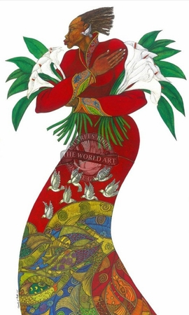 """Charles Bibbs Hand Signed and Numbered Limited Edition: """"Lilies"""""""
