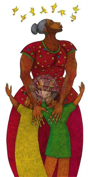 "Charles Bibbs Hand Signed and Numbered Limited Edition: ""Mama"""