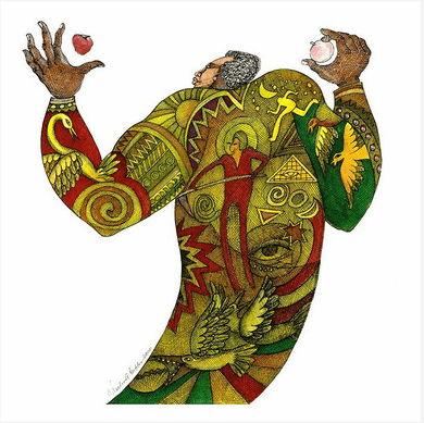 """Charles Bibbs Hand Signed and Numbered Limited Edition:""""Man Of Harvest"""""""