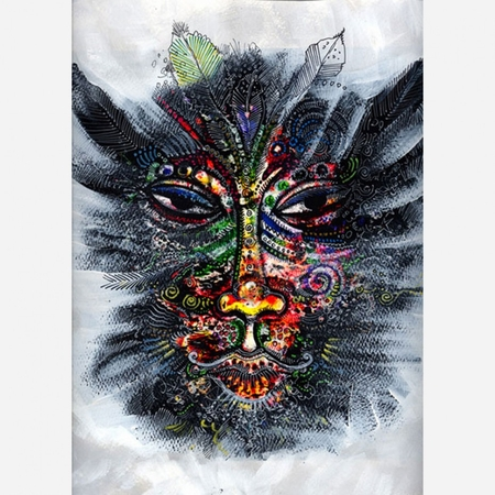 """Charles Bibbs Hand Signed and Numbered Limited Edition: """"Mask #1 Collaboration"""""""
