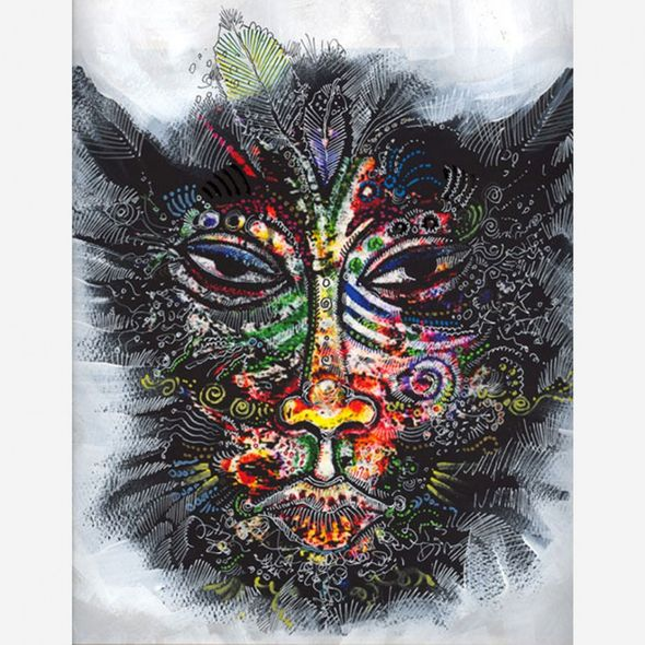 """Charles Bibbs Hand Signed and Numbered Limited Edition: """"Mask #2 Collaboration"""""""