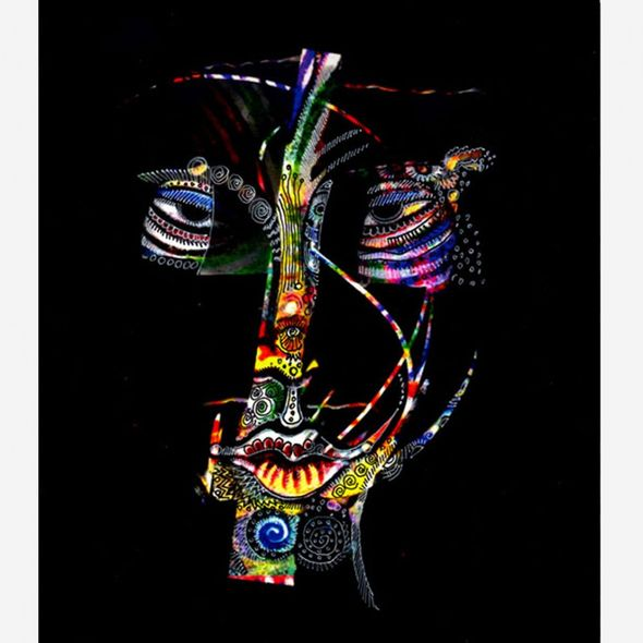 """Charles Bibbs Hand Signed and Numbered Limited Edition: """"Mask #5 Collaboration"""""""