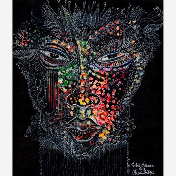 "Charles Bibbs Hand Signed and Numbered Limited Edition: ""Mask #6 Collaboration"""