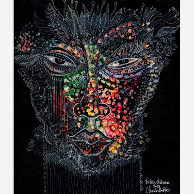 """Charles Bibbs Hand Signed and Numbered Limited Edition: """"Mask #6 Collaboration"""""""