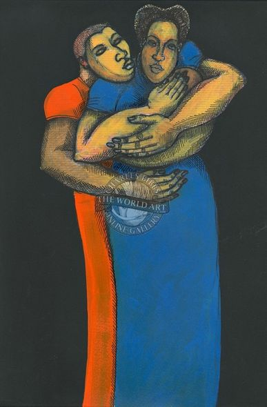 """Charles Bibbs Hand Signed and Numbered Limited Edition: """"Me and My Babies"""""""