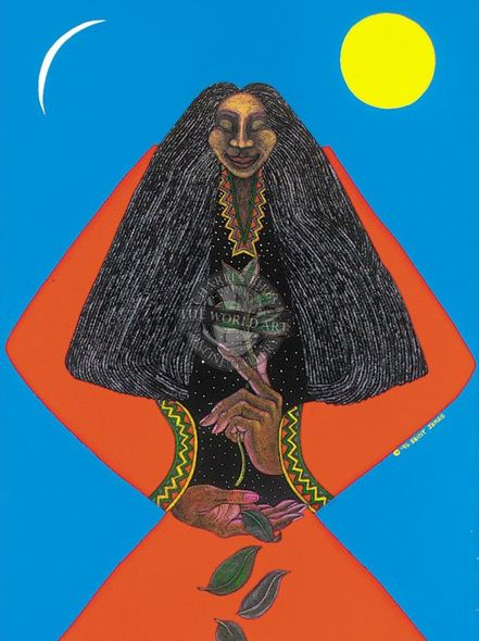 """Charles Bibbs Hand Signed and Numbered Limited Edition: """"Medicine Woman"""""""