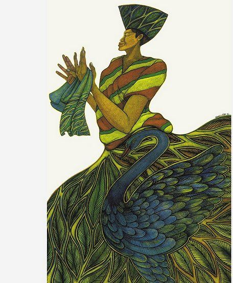 """Charles Bibbs Hand Signed and Numbered Limited Edition Mixed Media Lithograph:""""Silk Maiden"""""""