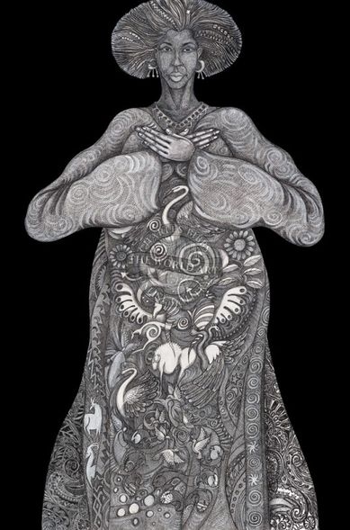 "Charles Bibbs Hand Signed and Numbered Limited Edition: ""Mother Earth"""