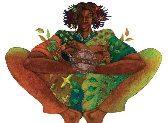 """Charles Bibbs Hand Signed and Numbered Limited Edition: """"Motherhood"""""""