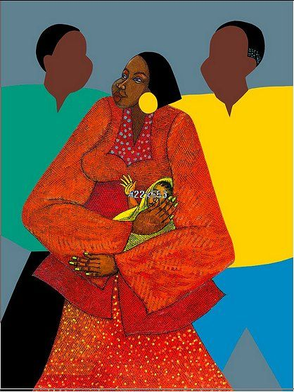 "Charles Bibbs Hand Signed and Numbered Limited Edition:""Nanas Arms"""