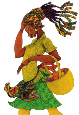 """Charles Bibbs Hand Signed and Numbered Limited Edition Print: """"The Yellow Basket"""""""