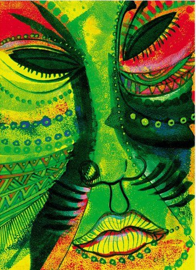 "Charles Bibbs Hand Signed and Numbered Limited Edition Print:""Todays Mask """