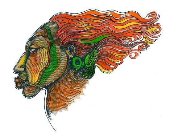 """Charles Bibbs Hand Signed and Numbered Limited Edition Print:""""Windface Series 1"""""""