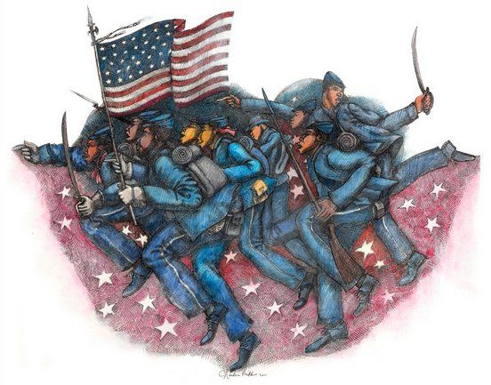 """Charles Bibbs Hand Signed and Numbered Limited Edition:""""Proof Of Valor"""""""