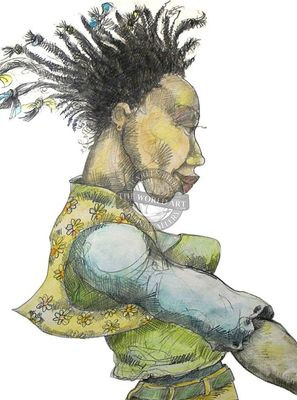 """Charles Bibbs Hand Signed and Numbered Limited Edition:""""Raggedy Girl"""""""