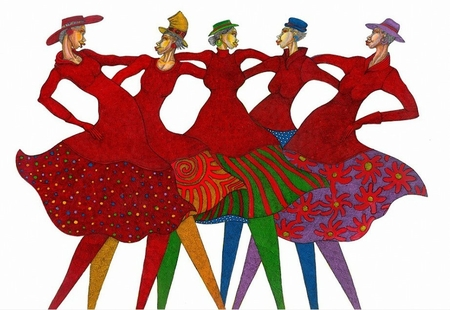 """Charles Bibbs Hand Signed and Numbered Limited Edition Giclee on Paper:""""Sisters in Link"""""""